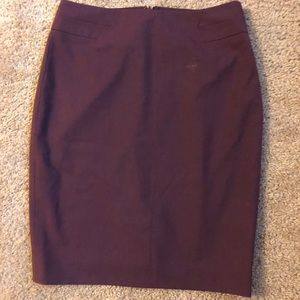 The Limited maroon pencil skirt